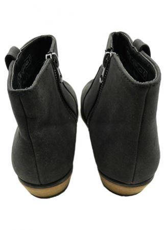 Boots uni cuir
