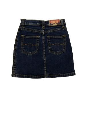 Jupe en jeans Uni Coton